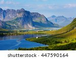 Green Picturesque Landscape Of...