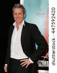 """Small photo of NEW YORK-AUG 10: Actor Hugh Grant attends """"The Man From U.N.C.L.E."""" New York premiere at the Ziegfeld Theatre on August 10, 2015 in New York City."""