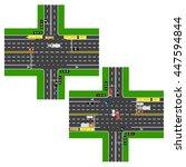 junction highway. roads ... | Shutterstock .eps vector #447594844