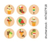 set ice cream  | Shutterstock .eps vector #447607918