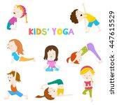 kids yoga | Shutterstock .eps vector #447615529