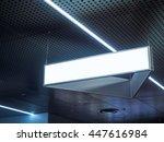 signboard hanging in building... | Shutterstock . vector #447616984