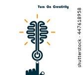 creativity brain opening...   Shutterstock .eps vector #447618958