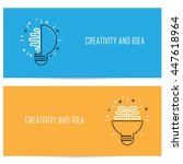 creative brain idea concept... | Shutterstock .eps vector #447618964