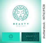 creative  beauty symbol for... | Shutterstock .eps vector #447619528