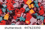 vintage retro grunge abstract... | Shutterstock .eps vector #447623350