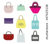 vector various types of woman... | Shutterstock .eps vector #447625138