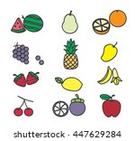 fruit icon  illustration and... | Shutterstock .eps vector #447629284
