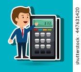voucher machine isolated icon...   Shutterstock .eps vector #447631420