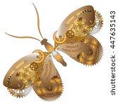 fantasy mechanical  butterfly...   Shutterstock .eps vector #447635143