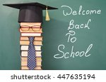 welcome back to school funny... | Shutterstock . vector #447635194