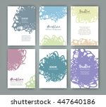 vector template with texture...   Shutterstock .eps vector #447640186