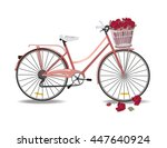 bicycle with flowers isolated... | Shutterstock .eps vector #447640924