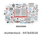 modern flat thin line design... | Shutterstock .eps vector #447643018