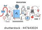 modern flat thin line design... | Shutterstock .eps vector #447643024