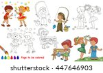 kid summer playing to be... | Shutterstock .eps vector #447646903