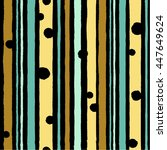 simple pattern with stripes in... | Shutterstock .eps vector #447649624