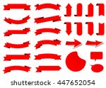 ribbon vector icon set red... | Shutterstock .eps vector #447652054