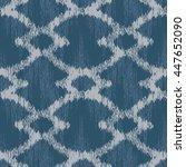 faux tribal pattern seamless... | Shutterstock .eps vector #447652090