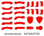 ribbon vector icon set red... | Shutterstock .eps vector #447654754