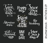 save the date collection with... | Shutterstock . vector #447656119