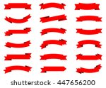 ribbon vector icon set red... | Shutterstock .eps vector #447656200