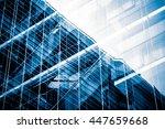 modern commercial building in... | Shutterstock . vector #447659668