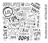 hand drawn set with short... | Shutterstock .eps vector #447661810