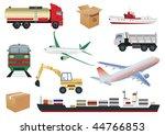 transportation set. vector... | Shutterstock .eps vector #44766853
