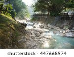Landscape Of Hot Water Stream...