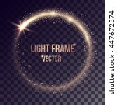Vector Golden Light Frame On...