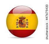 flag of spain. vector... | Shutterstock .eps vector #447675430