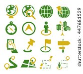 location  place icon set | Shutterstock .eps vector #447681529