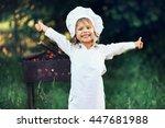 the children preparing sausages ... | Shutterstock . vector #447681988