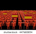 crowd of abstract people with... | Shutterstock . vector #447683854