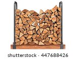 Firewood Stack Chopped With...