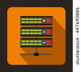 servers icon in flat style on a ... | Shutterstock . vector #447690886