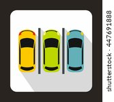 car parking icon in flat style... | Shutterstock . vector #447691888