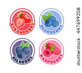 four stickers with different... | Shutterstock .eps vector #447699208