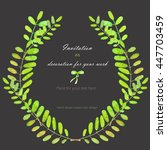 wreath  circle frame with the... | Shutterstock . vector #447703459
