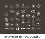 sacred geometry. set of minimal ... | Shutterstock .eps vector #447708250