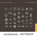 sacred geometry. set of minimal ... | Shutterstock .eps vector #447708259