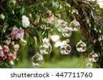wedding decor with flowers and... | Shutterstock . vector #447711760