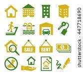 real estate  chattel icon set | Shutterstock .eps vector #447718690