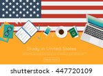 study in united states concept... | Shutterstock .eps vector #447720109