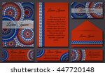 invitation card collection.... | Shutterstock .eps vector #447720148
