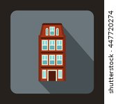 dutch houses icon in flat style