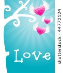 love card with heart flying... | Shutterstock .eps vector #44772124