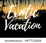 vector illustration of tropical ... | Shutterstock .eps vector #447721834