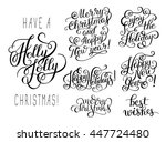 set of black and white hand... | Shutterstock .eps vector #447724480